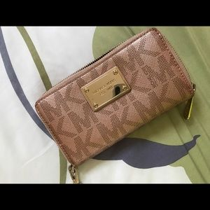 Rose Gold Michael Kors wallet